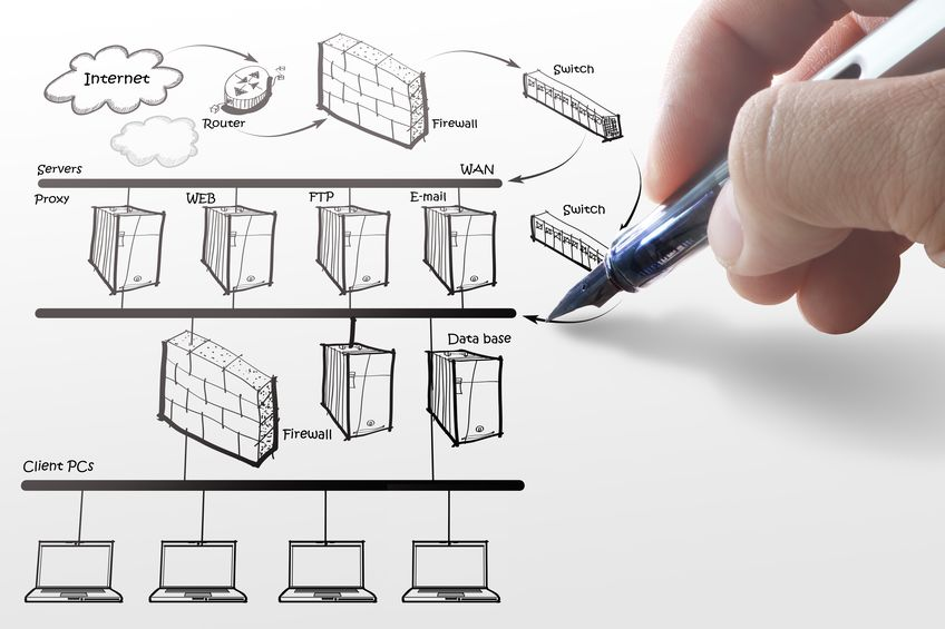 15064575 - businesswoman drawing internet system diagram